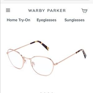 Warby Parker Colby Rose Gold